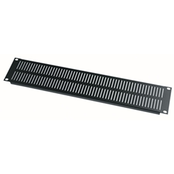 Middle Atlantic 2U Vertical Vent Panel - Black Powder Coat from Cases2Go