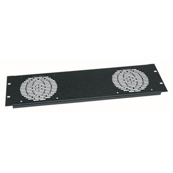 "Middle Atlantic 3U Aluminum Fan Panel for (2) 4.5"" Fans from Cases2Go"