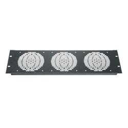 "Middle Atlantic 3U Aluminum Fan Panel for (3) 4.5"" Fans from Cases2Go"