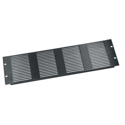 Middle Atlantic 3U Horizontal Vent Panel - Black Brushed Anodized from Cases2Go
