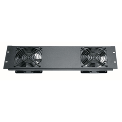 Middle Atlantic 3U Quiet Fan Panel Assembly w/ (2) Fans from Cases2Go