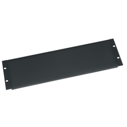 Middle Atlantic 3U Vent Panel Tight Perforated - Black Powder Coat from Cases2Go