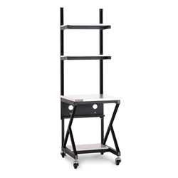 "24"" Performance 100 Series® LAN Station - Folkstone server racks, server rack accessories, kendall howard, kendall howard work station, LAN station, 24"" work station, server room table, server room furniture, 24"" Performance LAN Station w/ 14"" Shelf, 5000-3-100-24"