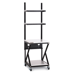 "24"" Performance 200 Series® LAN Station - Folkstone server racks, server rack accessories, kendall howard, kendall howard work station, work station, 24"" work station, server room table, server room furniture, 24"" Performance LAN Station w/ Full 28"" Bottom Shelf, 5000-3-200-24"