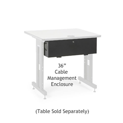 "36"" Training Table Cable Management Enclosure server racks, server rack accessories, kendall howard, kendall howard cable enclosure, cord enclosure, 36"" cable management enclosure, cable management enclosure, cable management, ACTT 36"" Cable Management Enclosure , 5500-3-100-36"