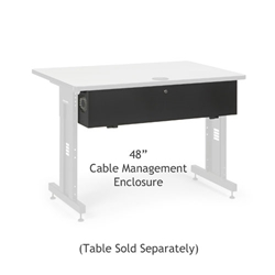 "48"" Training Table Cable Management Enclosure server racks, server rack accessories, kendall howard, kendall howard cable enclosure, cord enclosure, 48"" cable management enclosure, cable management enclosure, cable management, ACTT 48"" Cable Management Enclosure , 5500-3-100-48"