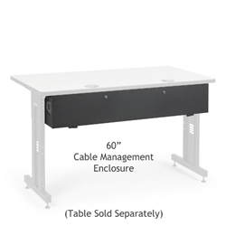 "60"" Training Table Cable Management Enclosure server racks, server rack accessories, kendall howard, kendall howard cable enclosure, cord enclosure, 60"" cable management enclosure, cable management enclosure, cable management, ACTT 60"" Cable Management Enclosure , 5500-3-100-60"