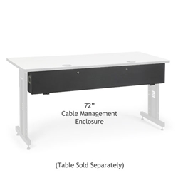 "72"" Training Table Cable Management Enclosure server racks, server rack accessories, kendall howard, kendall howard cable enclosure, cord enclosure, 72"" cable management enclosure, cable management enclosure, cable management, ACTT 72"" Cable Management Enclosure , 5500-3-100-72"
