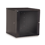 12U LINIER® Fixed Wall Mount Cabinet - Glass Door server racks, server rack accessories, kendall howard, server rack cabinet, vented server cabinet, server cabinet, LINIER Series Fixed Wall Mount Cabinet - 12U (Glass Door), 3140-3-001-12