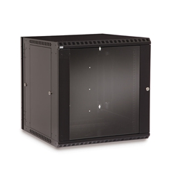 12U LINIER® Swing-Out Wall Mount Cabinet - Glass Door server racks, server rack accessories, kendall howard, server rack cabinet, vented server cabinet, server cabinet, wall mount server cabinet, LINIER Series Swing Out Wall Mount Cabinet - 12U (Glass Door), 3130-3-001-12