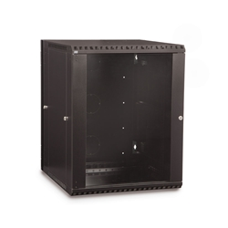 15U LINIER® Swing-Out Wall Mount Cabinet - Glass Door server racks, server rack accessories, kendall howard, server rack cabinet, vented server cabinet, server cabinet, wall mount server cabinet, LINIER Series Swing Out Wall Mount Cabinet - 15U (Glass Door), 3130-3-001-15