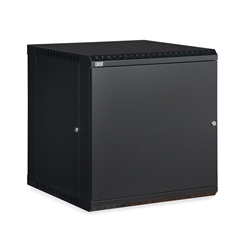 12U LINIER® Fixed Wall Mount Cabinet - Solid Door server racks, server rack accessories, kendall howard, wall mount server cabinet, wall mount cabinet, server cabinet, LINIER Series Fixed Wall Mount Cabinet - 12U (Solid Door), 3141-3-001-12