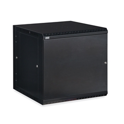 12U LINIER® Swing-Out Wall Mount Cabinet- Solid Door server racks, server rack accessories, kendall howard, wall mount server cabinet, wall mount cabinet, server cabinet, LINIER Series Swing Out Wall Mount Cabinet - 12U (Solid Door), 3131-3-001-12