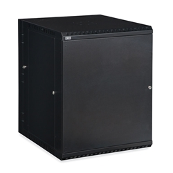 15U LINIER® Swing-Out Wall Mount Cabinet - Solid Door server racks, server rack accessories, kendall howard, wall mount server cabinet, wall mount cabinet, server cabinet, LINIER Series Swing Out Wall Mount Cabinet - 15U (Solid Door), 3131-3-001-15