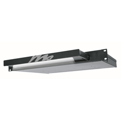 Middle Atlantic Rackmount LED Light - Black Powder Coat Open ISO View from Cases2Go