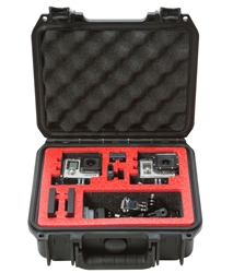 3i-0907-4GP2 | SKB iSeries Dual GoPro Cameras Case skb cases, shipping cases, rackmount cases, plastic cases, military cases, music cases, injection molded, shock isolated racks,  rack case, shockmount racks, pelican, protector, hardigg, storm