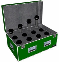ANVIL ATA Case for 12 Microphones And Accy Compartment