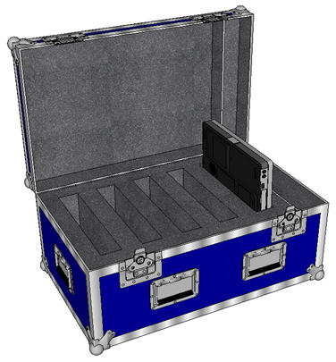 "ANVIL 1/4"" ATA Case for 5 Laptops + Accy (Lightweight Construction)"