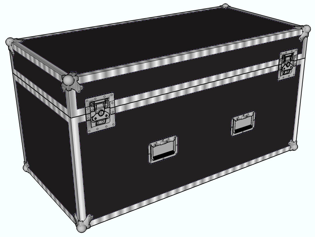 "ANVIL 1/4"" ATA Extra Large Double Trap Case"