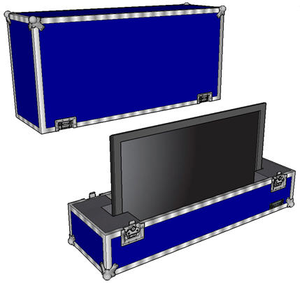 "ANVIL ATA Case for 50"" to 57"" Plasma / LED / LCD Display - Custom Configured"