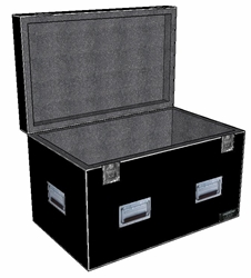 "ANVIL 1/4"" ATA Hinged Lid Utility Case - 28 X 20 X 18 ID - 1"" Foam Lined"