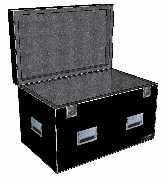 "ANVIL 1/2"" ATA Hinged Lid Utility Case - 48 X 30 X 30 ID - 2"" Foam Lined"
