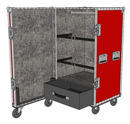 ANVIL ATA Wardrobe Case - Carpet Lined