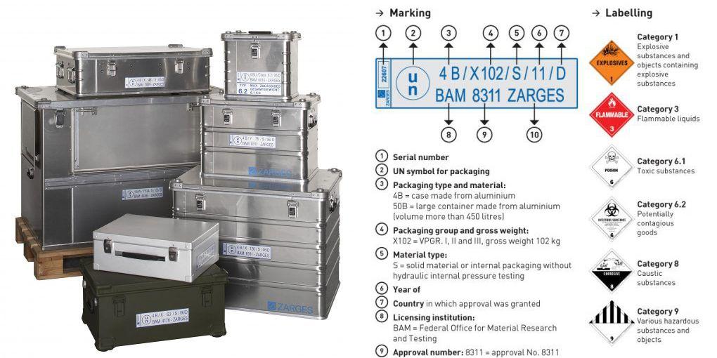UN IATA compliant shipping containers